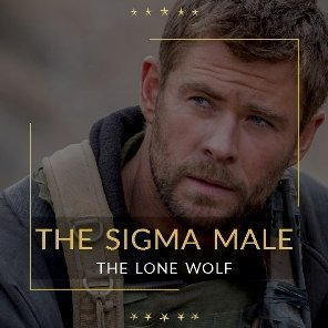 The Sigma male with examples like Chris hemsworth and Harvey Specter